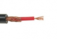 Microphone cable, mono, shielded. Outer diameter: 4 mm.