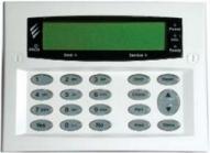 Premier LCDP Flush Mount -White Plastic . Врезная ЖК-клавиатура. Дополнительно 1 выход на сирену.