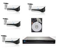 Komplekts 2204+4 - 4 kameras 2Mpix IR 40m+videorakstītājs 4CH+disks 1TB