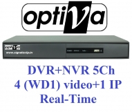 VODVR9104 - 5-channel, 720x576 Real-Time 100 f/s, H.264, PAL/NTSC, 10/100Mbit, 1x Audio inputs