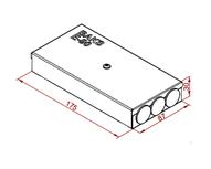 PMPO - Огнеупорная распределительная коробка с зажимом 3 контакта 6 входов 87x175x30 мм